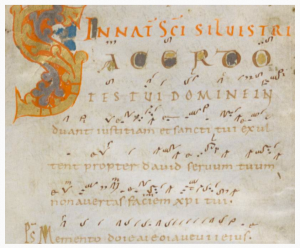 Beginn eines Introitus, Handschrift Einsiedeln 121